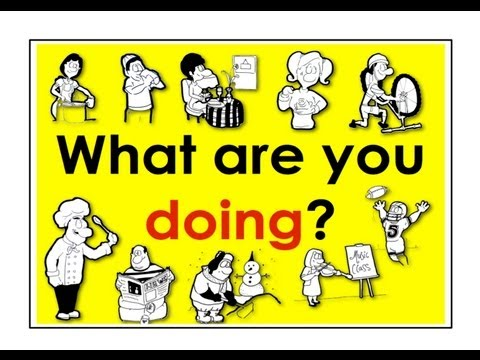 Present Continuous Verbs | What Are You Doing? | Easy English Conversation Practice | ESL