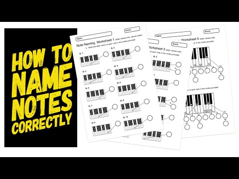 Note Naming on Piano Keyboard: First Music Theory Lesson Plan for Teachers