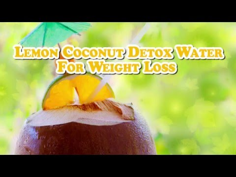 Lemon Coconut Detox Water Recipe