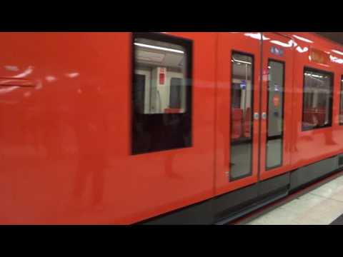 Video from 07.October 2016: CAF M300 Metro train arriving at Kamppi metro station, Helsinki, Finland