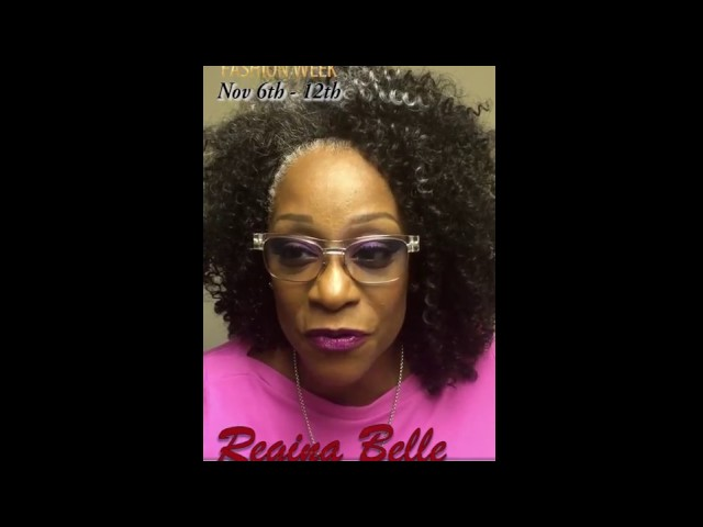 REGINA BELLE Orlando International Fashion Week Invitation