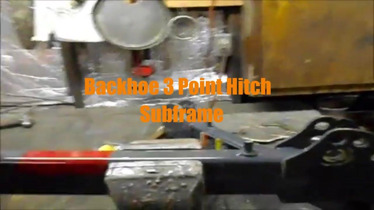 Kubota Three Point Hitch : Kubota b tractor homemade backhoe point hitch frame