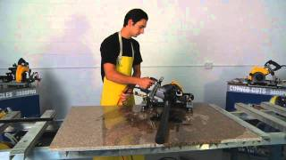 How To Cut a Perfect Circle in Granite - AccuGlide PRO Stone Saw in Action!