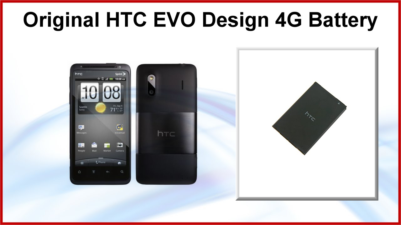 original htc evo design 4g battery bh11100 bas580 best buy get rh youtube com Sprint HTC EVO 4G Cases HTC EVO Design 4G Screen Tape
