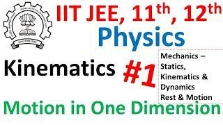 Kinematics for IIT JEE and Class 11th || Mechanics Statics Kinematics Dynamics Rest Motion for IIT