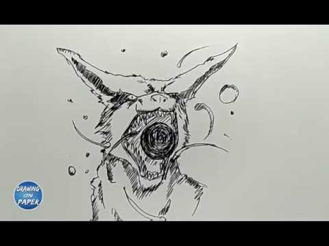 Very Easy!! How to Draw KURAMA (Kyubi) - Drawing doodle art for kids