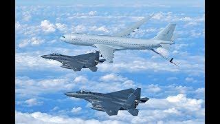 첫 공개!  대한민국 공군 공중급유기 1호기 F-15K 등 공중급유 영상