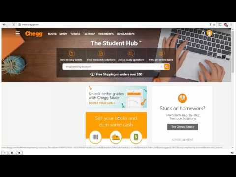 How to Use Chegg Textbook Solutions - YouTube