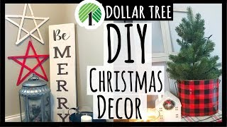 Dollar Tree Christmas DIY Decor | Quick + Easy Farmhouse Wreath, Stars, & Window Pane