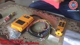 Cách lắp đặt bộ điều khiển từ xa cho cẩu trục, điều khiển không dây cầu trục
