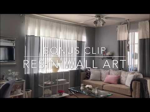 $15 Per Pair Walmart Curtains | Resin Wall Art | Mooregirl
