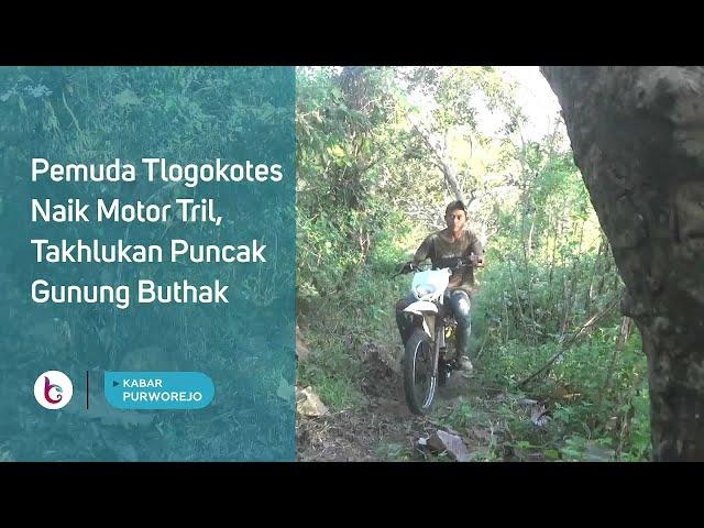 Pemuda Tlogokotes Naik Motor Trail, Takhlukan Puncak Gunung Buthak