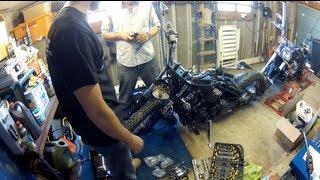 V Star Bobber Project Pt 3 : Test Fitting & Cleaning