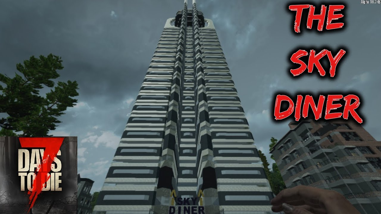 7 Days To Die Driving Around The Best City Map Ever The Sky