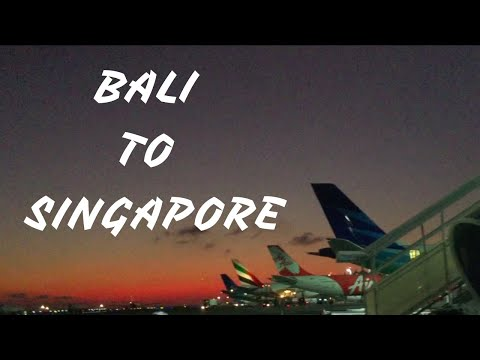 BALI TO SINGAPORE ON A BUDGET [ Travel Vlog ]