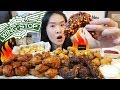 SUPER SPICY!! WINGSTOP INFERNO WINGS, Mango Habanero, Louisiana Rub | Fried Chicken Eating - Mukbang