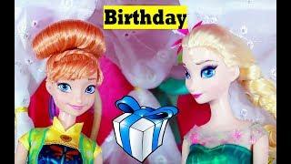 frozen fever anna s birthday party play doh cake elsa olaf kristoff hans barbie parody toy video