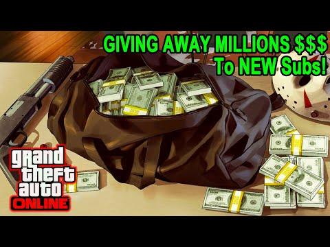 GTA 5 Giving Away MILLIONS To NEW Subs! (85% Heist Giveaway + SUMO) 6 #gta5