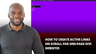 How to Create Active Links on Scroll for One Page Divi Websites