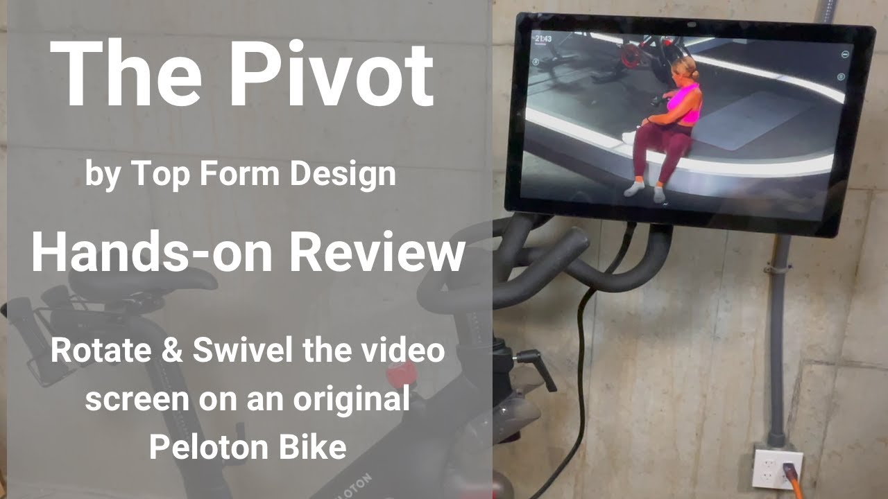top form design pivot youtube Hands-On Review of The Pivot by Top Form Design - Rotate & Swivel the  original Peloton bike screen