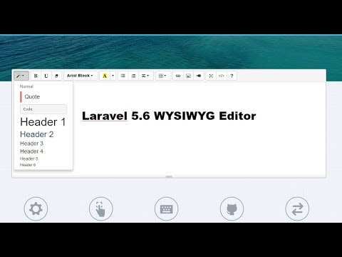 How to Add WYSIWYG Editor to Laravel 5 6