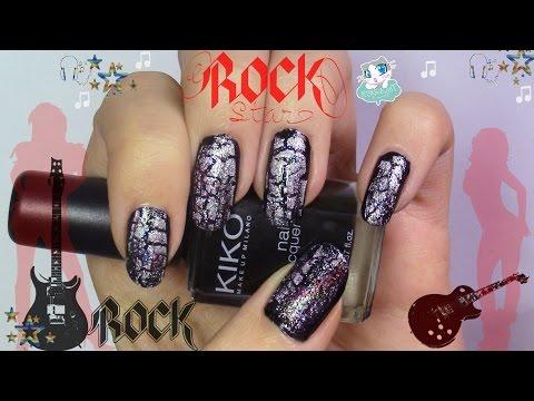 Rock Star nail art / Manicura Rock Star (English sub)