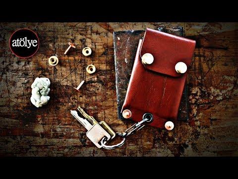 Keychain Wallet | Riveted Micro Wallet | Minimalist Wallet | Front Pocket Wallet