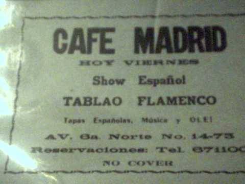 Cafe Madrid advertisement