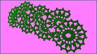Ленточное кружево. Ленточное кружево крючком. Вязание кружева. Кружево крючком. (crochet lace)