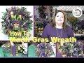 Deco Mesh Mardi Gras Door Wreath (Sneak Peek)