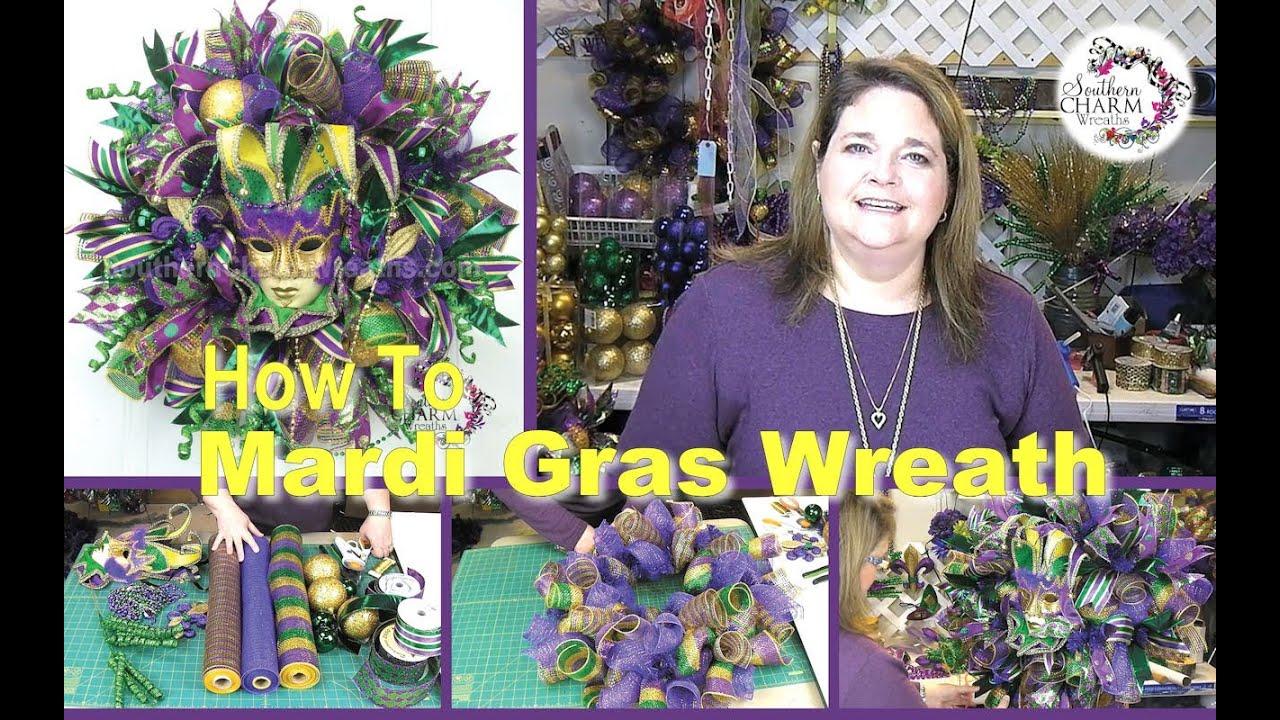 Adding Ribbon To Deco Mesh Wreath