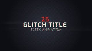 Glitch intro titles