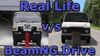 Real Life vs BeamNG.Drive - Crash Testing