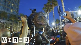 Watch The Giant Creature Crash Through San Diego Comic-con 2014-wired