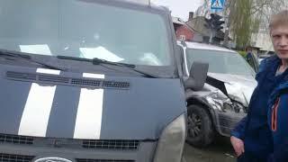 ДТП на перекрестке Суворова и Островского в Бердске №2