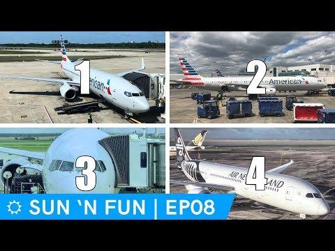 American Airlines Air New Zealand megavlog