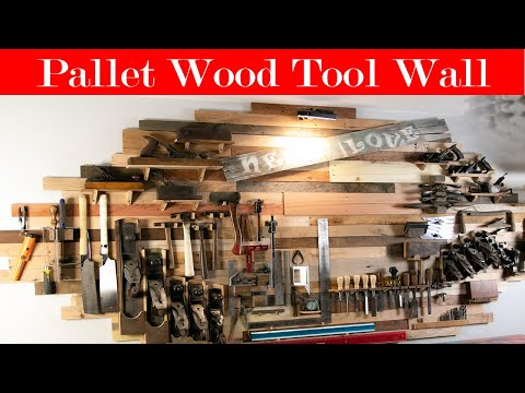 Ultimate Tool Wall Made From Pallets and Reclaimed Lumber || DIY ||