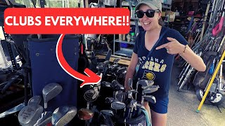WE SCORED BIG THRIFTING FOR GOLF GEAR!! (New Irons For Ashley?)
