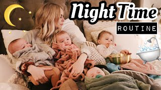 OUR NIGHT TIME ROUTINE with TRIPLETS AND A TODDLER!!!