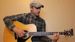 Turnin' Me On - Blake Shelton - Guitar Lesson | Tutorial