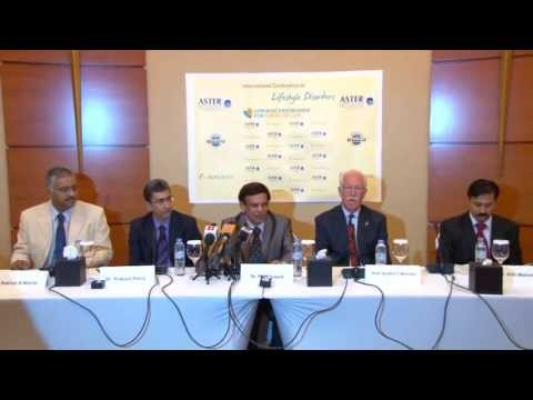 Press Conference in Dubai for International seminar on Lifestyle Disorders