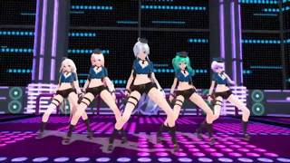 MMD Police Girls Gentleman 60Fps HD With Effects Animated Stage