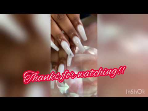 Milky White Acrylic Nail Tutorial thumbnail
