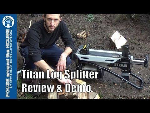 Titan log splitter REVIEW and DEMO (TTB685LSP) 1.5kw Electric Wood splitter
