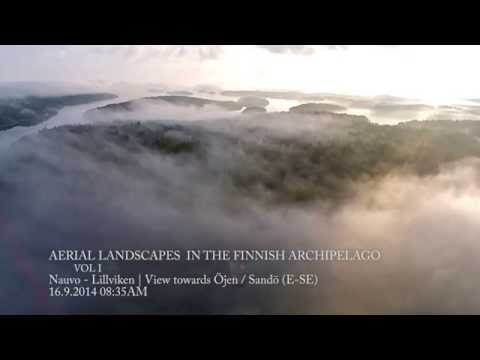 Aerial landscape from Finland (HD)