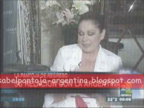 Isabel Pantoja.entrevista america 24.argentina