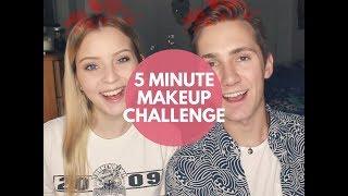5 MINUTE MAKEUP CHALLENGE - Luke & Jenna