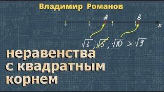 алгебра НЕРАВЕНСТВА С КВАДРАТНЫМ КОРНЕМ 9 и 8 класс Дорофеев 23 28