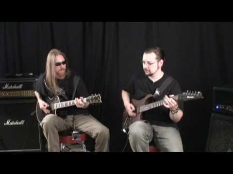 Ihsahn & Samoth from Emperor guitar session