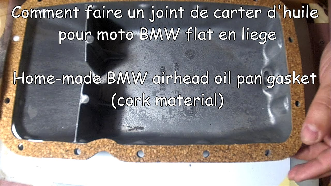 comment faire un joint de carter d 39 huile en li ge home made oil pan gasket youtube. Black Bedroom Furniture Sets. Home Design Ideas